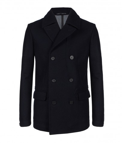 Frith Pea Coat, Men, Coats, AllSaints Spitalfields