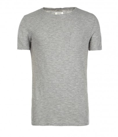 Roots Cut Collar Crew T-shirt, Men, Jersey, AllSaints Spitalfields