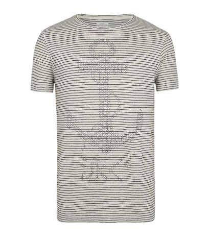 Trawl Stripe Crew T-shirt