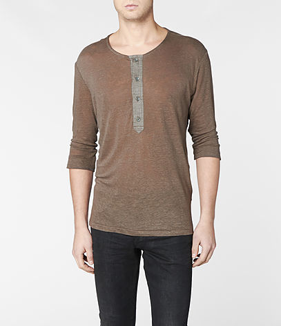 Steady Half Sleeved Henley