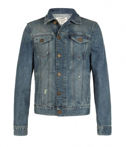 Soleil Denim Jacket, Men, Jackets, AllSaints Spitalfields
