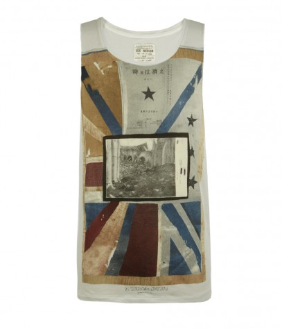 Jerusalem Raw Arm Vest, Men, T-shirts, AllSaints Spitalfields