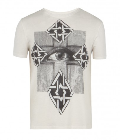Maltese Cut Collar Crew T-shirt