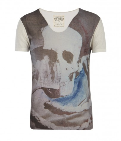Watercolours Tonic Scoop, Men, T-shirts, AllSaints Spitalfields