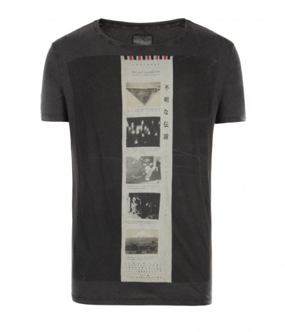 Zinc Cut Collar T-shirt, Men, , AllSaints Spitalfields