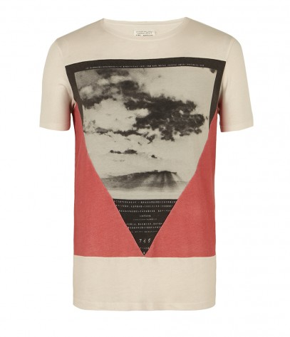 Triangle Cut Collar Crew T-shirt, Men, T-shirts, AllSaints Spitalfields