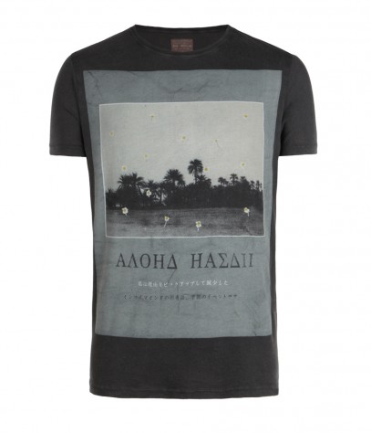 Aloha Cut Collar T-shirt, Men, , AllSaints Spitalfields