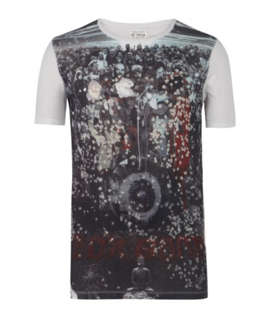 Crowds Cut Collar T-shirt, Men, , AllSaints Spitalfields