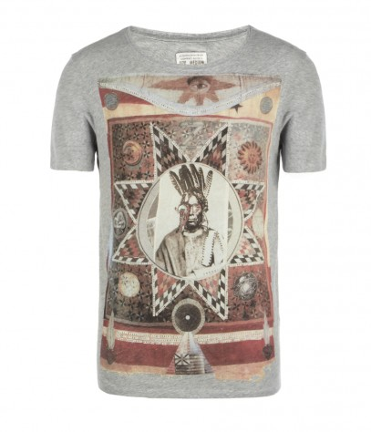 Muerte Cut Collar T-shirt, Men, , AllSaints Spitalfields
