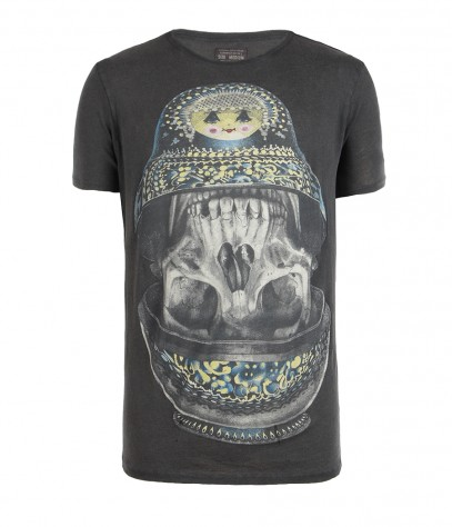 Doll Cut Collar Crew T-shirt, Men, , AllSaints Spitalfields