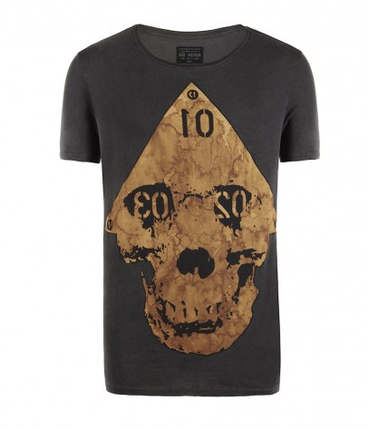 Arrow Cut Collar Crew T-shirt, Men, , AllSaints Spitalfields