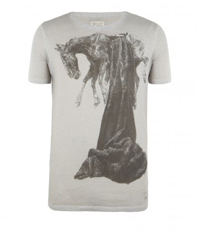 Dominion Cut Collar T-shirt, , , AllSaints Spitalfields