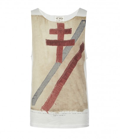Crossed Raw Vest, Men, , AllSaints Spitalfields