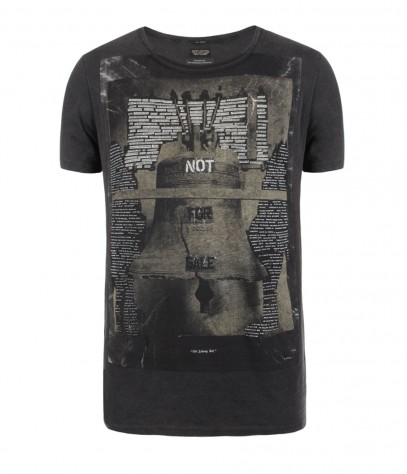 Belles Cut Collar T-shirt, Men, Graphic T-Shirts, AllSaints Spitalfields