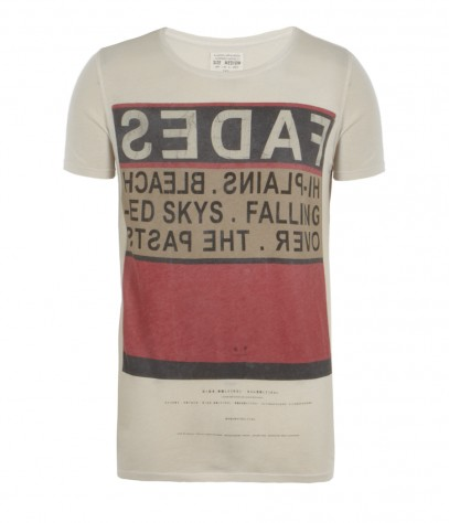 Fading Cut Collar T-shirt, Men, , AllSaints Spitalfields