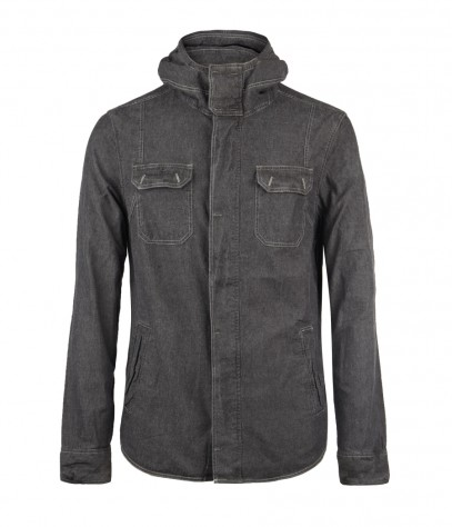 Shelby Hooded Shirt, Men, Shirts, AllSaints Spitalfields