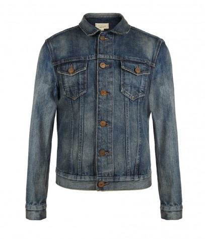 Bloomsbury Denim Jacket, Men, Coats, AllSaints Spitalfields