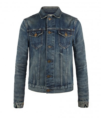 Gowd Denim Jacket, Men, Jackets, AllSaints Spitalfields