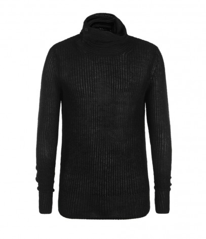 Laker Funnel Neck Jumper, Men, Knitwear, AllSaints Spitalfields