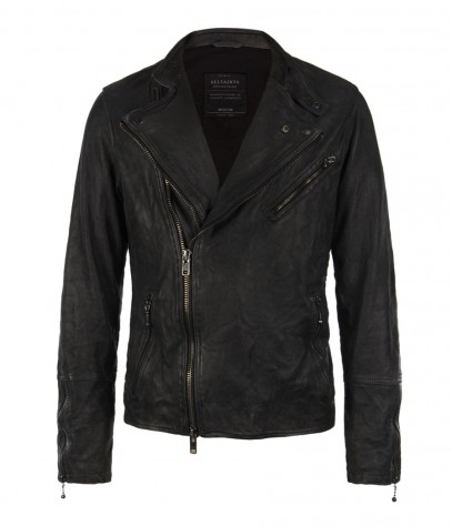 Mast Biker Leather Jacket, Men, Leathers, AllSaints Spitalfields