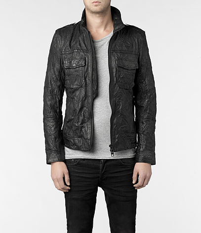 Shift Leather Bomber Jacket