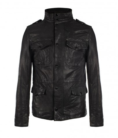 Seville Leather Jacket, Men, Leathers, AllSaints Spitalfields