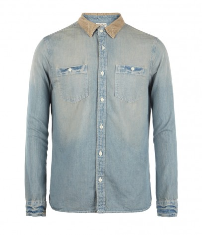 Death Valley Denim Shirt, Men, Shirts, AllSaints Spitalfields