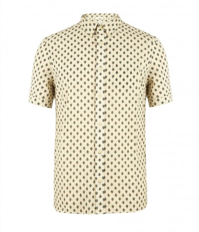 Grosvenor Short Sleeved Shirt, Men, Shirts, AllSaints Spitalfields