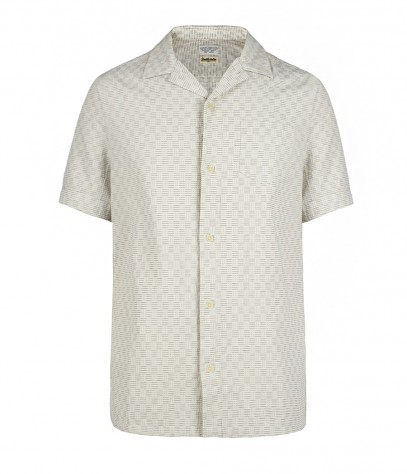 Deuce Short Sleeved Shirt, Men, Shirts, AllSaints Spitalfields