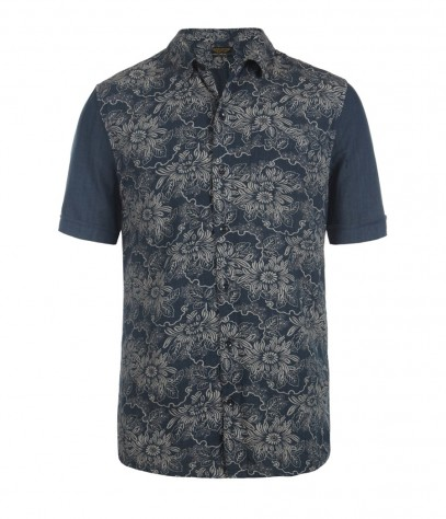 Audubon Short Sleeved Shirt, Men, Shirts, AllSaints Spitalfields