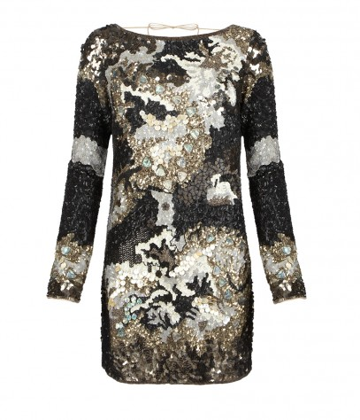 Oyster Long Sleeved Dress, Women, Dresses, AllSaints Spitalfields
