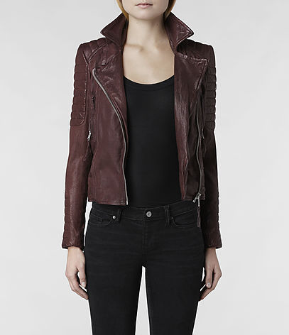 Oxblood Leather Biker Jacket