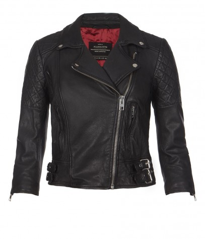 Cropped Voxon Leather Jacket