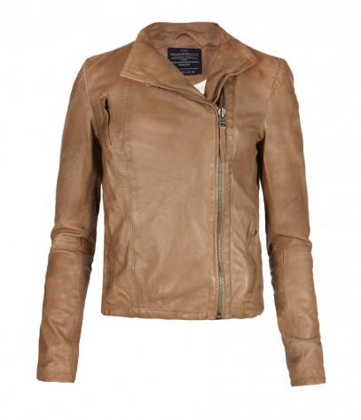 Marsh Leather Biker Jacket, Women, , AllSaints Spitalfields