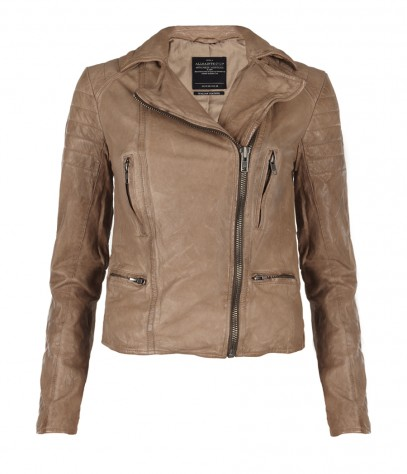 Hardy Leather Jacket, Women, , AllSaints Spitalfields