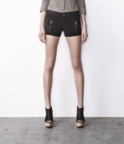 Nash Leather Biker Shorts