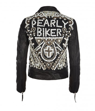 Pearly Queen Leather Biker Jacket, Women, , AllSaints Spitalfields