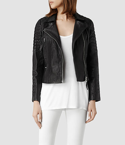 Pitch Leather Biker Jacket
