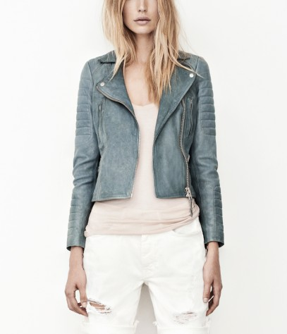 Sail Leather Biker Jacket