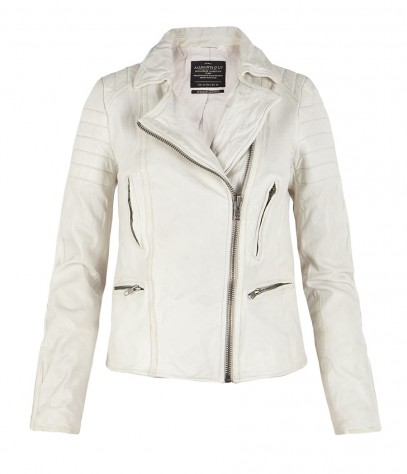 Polar Leather Biker Jacket, Women, , AllSaints Spitalfields