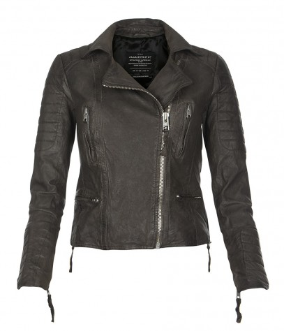 Slate Leather Biker Jacket