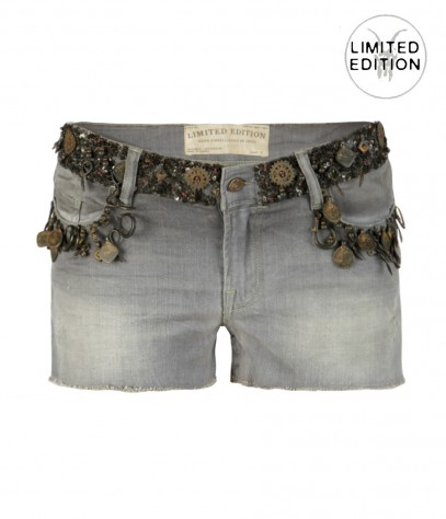Embellished Grey Waters Lowe, Women, Shorts, AllSaints Spitalfields