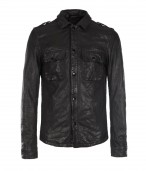 Section Leather Shirt
