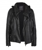 Mace Hooded Biker Jacket