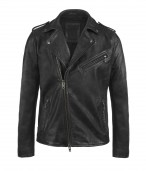 Raid Leather Biker Jacket