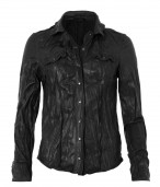 Lorrimer Leather Shirt Jacket