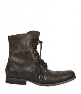 All Saints Cropped Military Boots