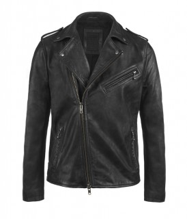 AllSaints Raid Leather Biker Jacket