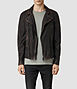 Cargo Biker Leather Jacket 0, Men, Leathers, AllSaints Spitalfields