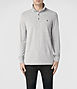 Sandringham Long Sleeved Polo 0, Men, Ramskull, AllSaints Spitalfields